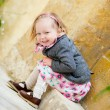 Little girl portrait outdoors — Stock Photo