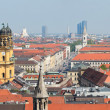 Munich city panorama — Stock Photo