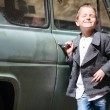 Boy near car — Stock Photo