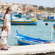 Mother and daughter in Malta — Stock Photo