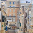 Architecture details of Valletta street — 图库照片