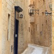 Mdina narrow street — Stock Photo