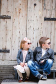 Kids outdoors — Stock Photo