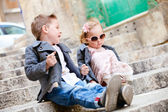 Kids outdoors — Stock Photo