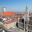 Munich aerial view - Stock Photo