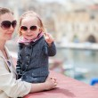 Mother and daughter portrait outdoors — Stock Photo