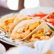 Delicious mexican tacos — Stock Photo