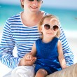Father and daughter on Caribbean vacation — Stock Photo