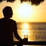 Sunset drink — Stock Photo