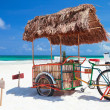 Beach bar bike — Stock Photo