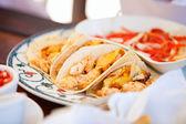 Delicious mexican tacos — Stock Photo