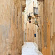 Mdina narrow street — 图库照片