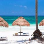 Caribisch strand panorama — Stockfoto