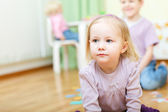 Two kids at daycare — Stock Photo