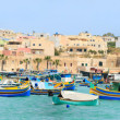 marsaxlokk village in malta — Stock Photo