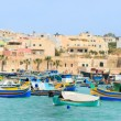 Marsaxlokk village in Malta - Stock Photo