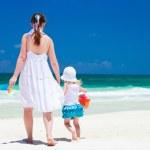 matka a dcera na dovolené — Stock fotografie