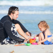 Father and daughter at beach — Stock Photo #6051516