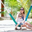 Mother and son relaxing in hammock — Stock Photo #6118856