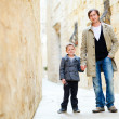 Father and son in city — Stock Photo #6180621