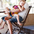 Father and daughter relaxing — Stock Photo