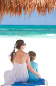 Mother and son on vacation — Stockfoto