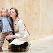 Mother and daughter outdoors — Stock Photo #6231014