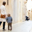 Mother and daughter in city — Stock Photo #6231049