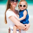 Stock Photo: Mother and daughter on vacation