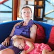 Mother and daughter relaxing — Stock Photo #6231573
