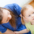 Mother and daughter at home — Stock Photo #6308255