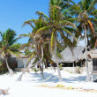 Caribbean beach panorama - Stockfoto