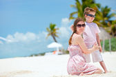 Mother and son on vacation — Stock Photo