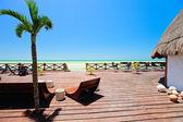 Seaside wooden terrace — Stock Photo