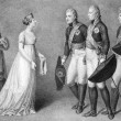 Frederick William and Louisa of Prussia romance scene — Stock Photo