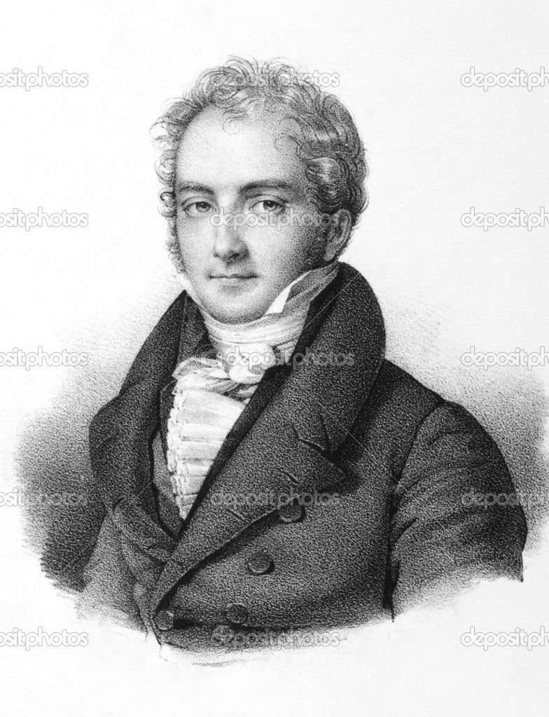 Jean Paul Pierre Casimir-Perier (1777-1832) on engraving from the 1800s. French politician, 11th Prime Minister of France. Engraved by Lemercier in Paris, 1850.  Stock Photo #5598288