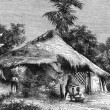 Native Hut at Bombay — Stock Photo
