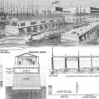 Proposed wharfage piers and improved front for the city of New York - Stock Photo