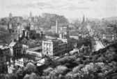 Edinburgh from Calton Hill — Stock Photo