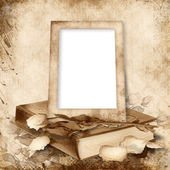 Old frame on vintage background — Stock Photo