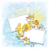 Photo frame for summer photos — Stock Photo