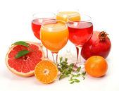 Succo e frutta matura — Foto Stock