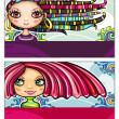 Fashion girls cards series — Stock Vector #5906733