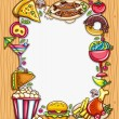Food framework - Stock Vector
