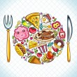 Stock Vector: Food plate