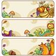 Vector set of decorative autumnal banners.3 — Stockvektor
