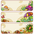 Vector set of decorative autumnal banners.2 — 图库矢量图片