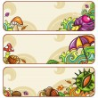 Vector set of decorative autumnal banners.2 — Stock Vector