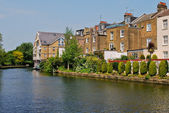 Boat in London Canal — Foto Stock