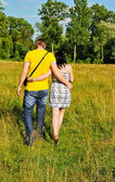 Couple outdoors — Stock Photo